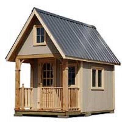 """Build your own small Cottage """"Bunkie"""" or Tiny House Plans - Free Shipping"""
