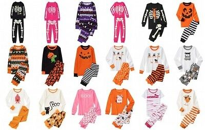 NWT Gymboree Halloween Pajamas Holiday Pajamas 2pc Cotton Top and Pants Set