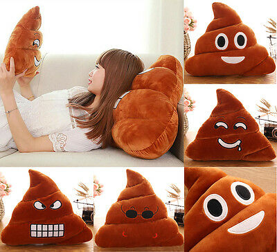 Poop Poo Family Emoji Emoticon Pillow Stuffed Plush Toy Soft Cushion Doll AU
