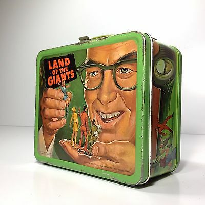 Vintage 1960's LAND OF THE GIANTS Tin Lunch Box with Original Thermos