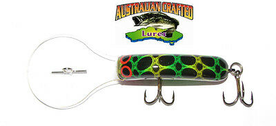 Australian Crafted Lures- 50mm slim invader FROG col;51, 30ft a.c.lures