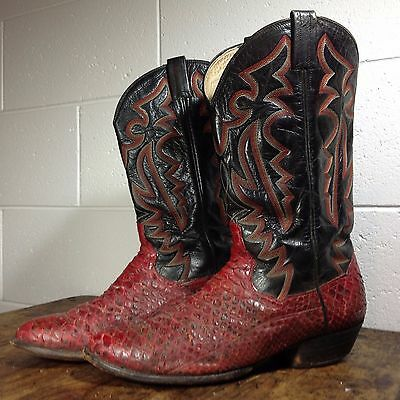 Classic Vintage Snakeskin Cowboy Boots