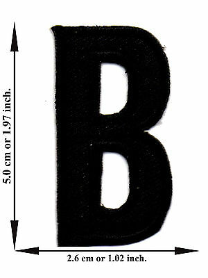 Alphabet B Black Color English Letter Applique Iron on Patch Sew For T-shirt