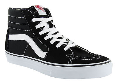 Vans Classic SK8 Hi Tops Black White Womens All Sizes Skateboard Shoes