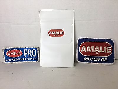 Tampa Bay's Amalie Oil Company - 2 Patches and Pocket Protector - FREE SHIPPING!