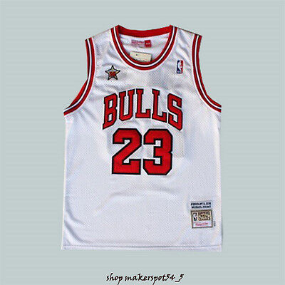 #23 White 1998 All Star Jersey Michael Jordan Vintage Basketball Jersey