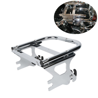 Detachable Two-Up Tour Pak Pack Mount Luggage Rack For Harley Road Glide 97-08