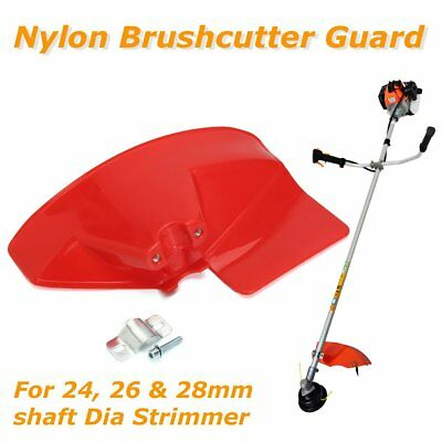 Red 280x175mm Strimmer Brushcutter Brush Cutter Guard for Dia 24/26/28mm Shaft
