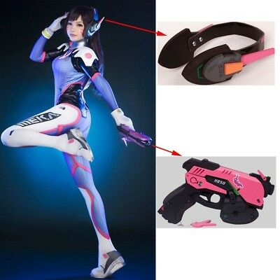 Game Overwatch D.Va DVA Headset Cosplay Prop Gun Weapons OW Halloween Costume US