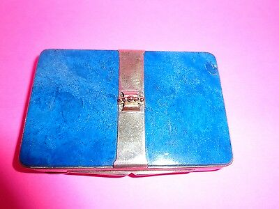 Very old English hand chased  solid sterling silver card case