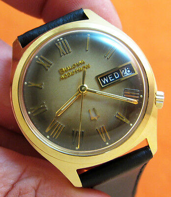 Serviced Vintage 218 Accutron 14Kt. Gold Filled  Tuning Fork Mens Watch M9