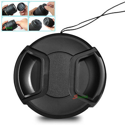 NEW 46 mm 46mm Front Pinch Lens Cover Cap for Sony Alpha DSLR Camera Snap-clips