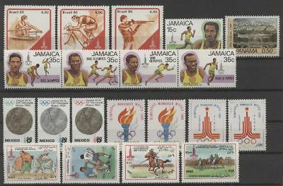 Olympiade 1980, Olympic Games - LOT - ** MNH