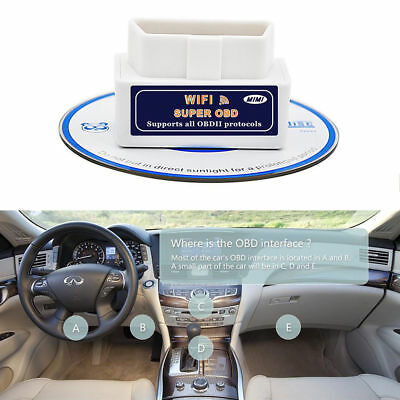Super WiFi OBD2 Car Diagnostics Scanner Scan Tool for iPhone iOS Android PC FS