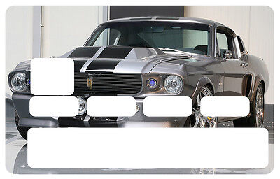 Sticker Mustang Usa Muscle Car Carte Bancaire Credit Card Cb Skin Cc115