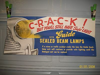 Org  Nos Unused 1940/1941 Chevrolet/buick Guide Seal Beam Headlight Poster  Cool