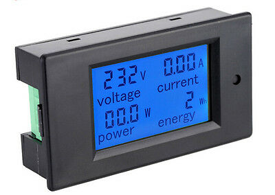 AC 80~260V 0-100A LCD Digital Combo Panel Display Volt Amp Power Watt Meter