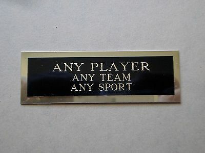 """Any Football Player Nameplate For An Autographed Football Card Plaque 1"""" X 3"""""""