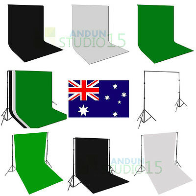 Photo Studio Muslin Backdrop Screen Black White Green Background Stand with Bag