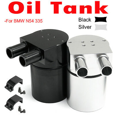 Racing Aluminum Alloy Reservior Double Baffle Oil Catch Can Tank For BMW N54 335
