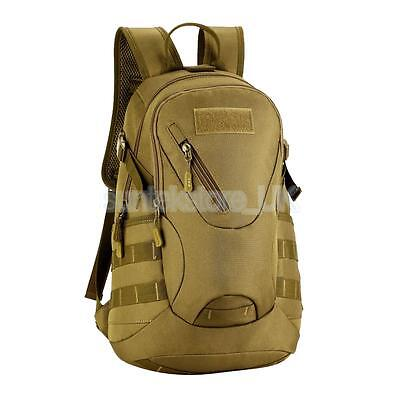 20L Travel Daypack Outdoor Sport Military Tactical Backpack School Bag Brown