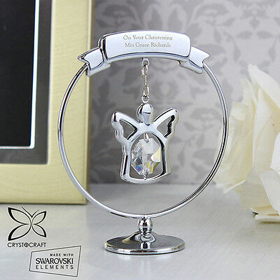 Personalised Crystocraft Angel Ornament, Christening, In Memory of, Birthday