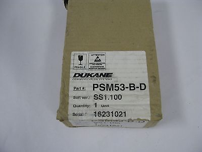 PSM53-B-D Supervised Single Patient Station Dukane Nurse Call Monitor Panel