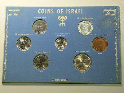 Coins Of Israel, 7 Different Uncirculated Coins #G6335
