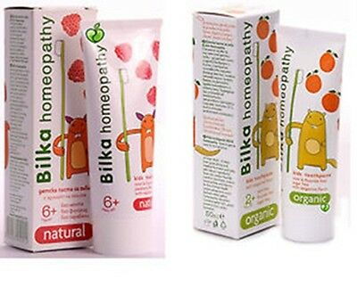 BILKA HOMEOPATHY TOOTHPASTE NATURAL HERBS 50 ml FOR CHILDREN 6+ and 2 + UK STOCK
