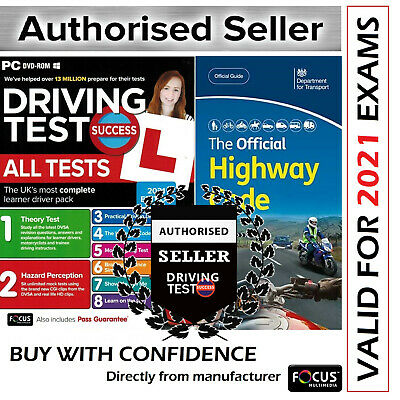 2018 Driving Theory Test and Hazard CD DVD + Official DSA Highway Code Book