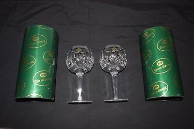 """2 vintage Tyrone Irish Crystal Goblets 7 3/4"""" tall New In Boxes"""
