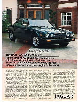 1984 Jaguar XJ6 Dark BLue Sedan Vtg Print Ad