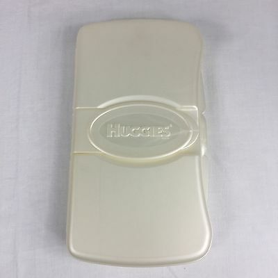 Huggies Wipes Hard Travel Case White Empty Discontinued Rare Never Used