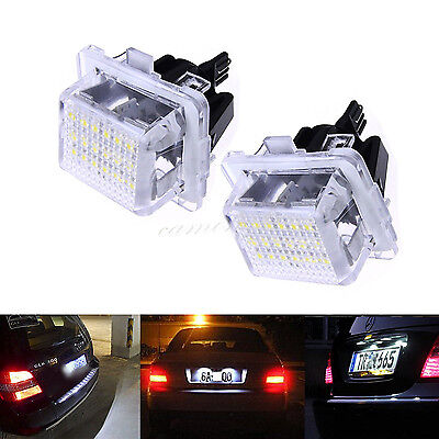 2X Canbus  LED Number License Plate Light For Mercedes Benz W204 W212 W221 White