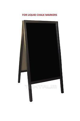 "Tektrum Large Double-Side Sidewalk A-Frame Dark Wood Sandwich Sign Board 20"" ..."