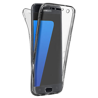 For Samsung Note 8 Transparent 360° Full Case Protective TPU Silicone Gel Cover