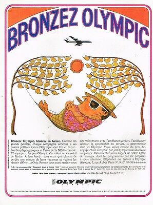 C- Publicité Advertising 1966 Compagnie aerienne Olympic Airways Grèce
