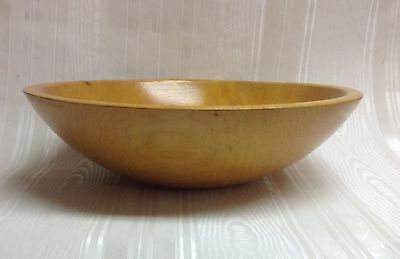"""Vintage Out-of-Round Wooden Dough/Salad Bowl, 11"""""""