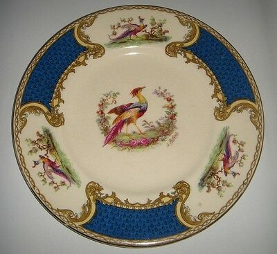 Myotts England ' Chelsea Bird ' Side Plate Blue Panels c.1930s * Vintage China