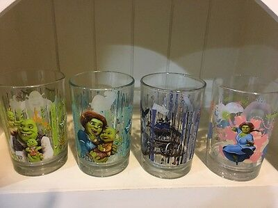 Set of 5 McDonalds Shrek Forever After Tumblers