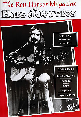 The Roy Harper Magazine 'Hors d'Oeuvres'   Issue No. 24 published in July 1993