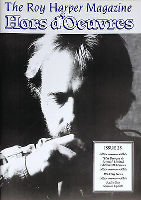 The Roy Harper Magazine 'Hors d'Oeuvres'   Issue No. 25 published in March 1994