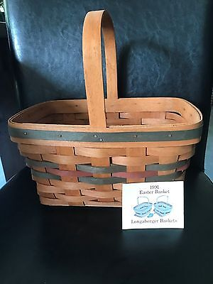 Longaberger 1991 Easter Basket - great cond- Free Shipping!