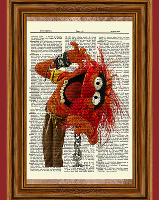 The Electric Mayhem The Muppets Dictionary Art Print Picture Poster Jim Henson