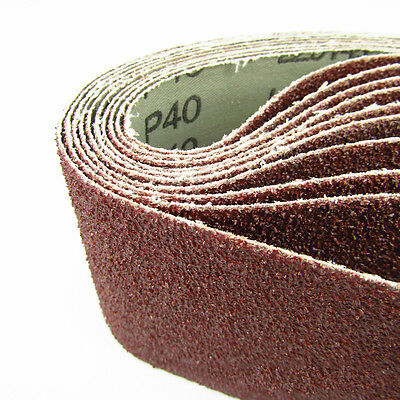 Sanding Belts Zirconia Grit 40 / 60 / 80 / 120 / 180 Belt 75 X 533mm 10Pcs WCV