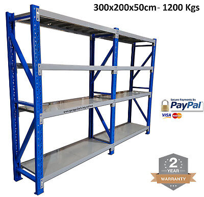 NEW 3Mx2Mx0.5M 1200KG Garage Racking / Warehouse Steel Storage Garage Shelving