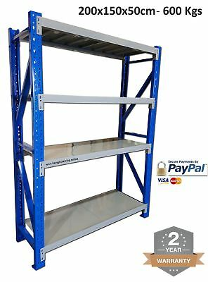 NEW 2Mx1.5Mx0.5M 600KG Garage Racking / Warehouse Steel Storage Garage Shelving