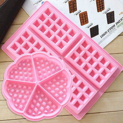 Silicone Waffles Pan Cake Muffin Pudding Bakeware Mould Chocolate Ice Maker Mold
