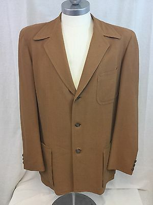 Men's Vintage 1940s-50s KUPPENHEIMER Atomic Fleck Rockabilly Coat Size 44