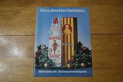 Beefeater London Gin Christmas Ad 1979 Playboy Magazine ad - Excellent +++